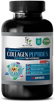 Skin Care Pills for Men - HYDROLYZED Collagen PEPTIDES 3000MG from Type I & III - hydrolyzed Collagen Supplements Capsules - 1 Bottle 120 Capsules