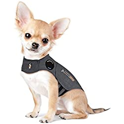 Thundershirt Dog Anxiety Calming Wrap (XX-Small (Under 8 lbs), Heather Gray)
