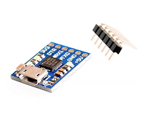 FICBOX 1 Pack CP2102 USB To TTL/Serial Module UART STC Downloader For Arduino