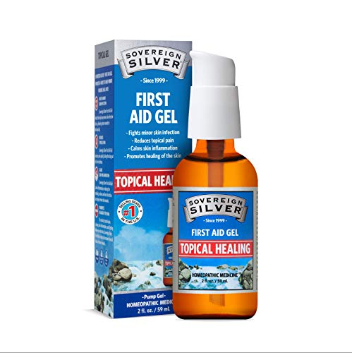 Sovereign Silver First Aid Gel – Topical Healing Homeopathic Medicine, 2 oz.