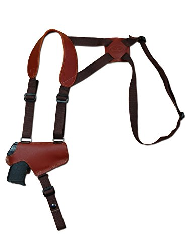 Barsony New Burgundy Leather Thumb Break Gun Shoulder Holster for Walther PP PPKS PPK Left