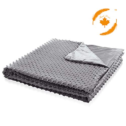 Cheap Maple Down Duvet Cover for Weighted Blanket Removable Soft Minky Dot Heavy Bed Blankets Cover | 60 80 | Gray. Black Friday & Cyber Monday 2019