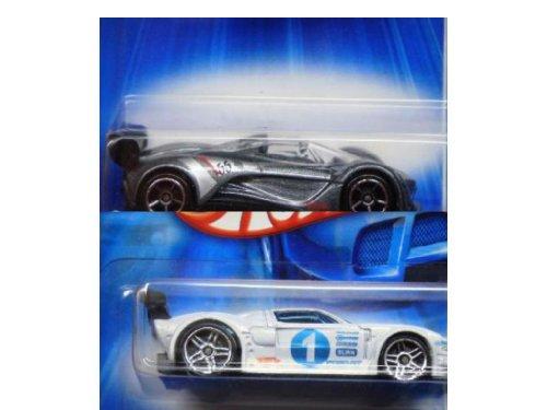 Hot Wheels Diecast Powder White Ford Gt Lm Pr5 - Deep Silver Flake Mazda Furai FtE 1/64 Scale (Diecast Mazda Furai compare prices)