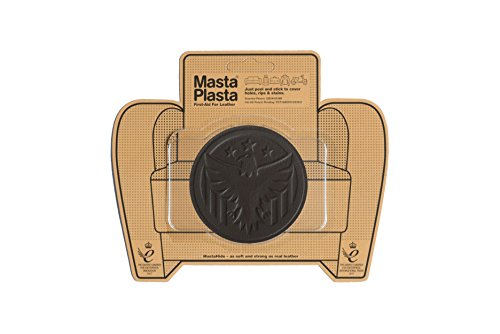 MastaPlasta, Leather Repair Patch, First-aid for Sofas, Car Seats, Handbags, Jackets, etc. Dark Brown Color, Eagle 3-inch by 3-inch, Designs Vary -