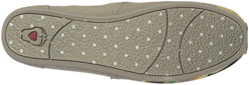 Skechers Womens Bobs Plush-breeds Ballet Flat Taupe - Baby Stier