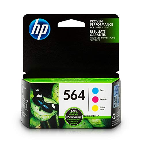 HP 564 Ink Cartridges: Cyan Magenta & Yellow 3 Ink Cartridge