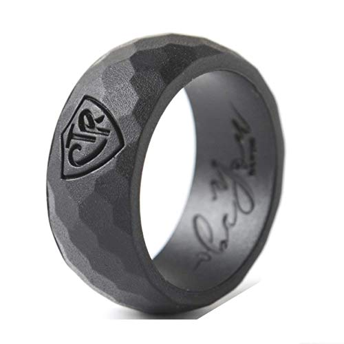 Be You Bands - Men's CTR Silicone Ring (Black, 13)