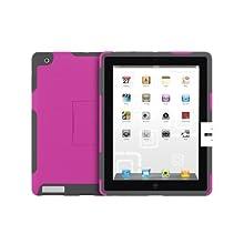 Incipio new iPad / iPad 2 SILICRYLIC Hard Shell Case with Silicone Core - Magenta/Gray