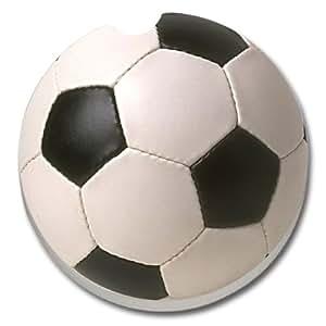CounterArt Absorbent Stoneware Car Coaster, Soccer Ball