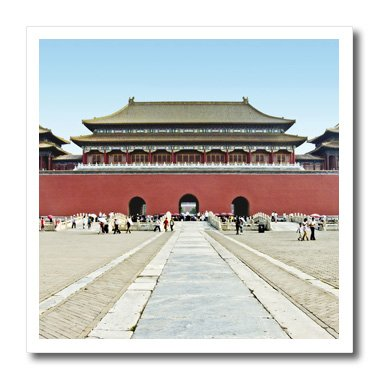 3dRose ht_13919_2 Forbidden City Meridian Gate Approach Iron on Heat Transfer, 6 by 6