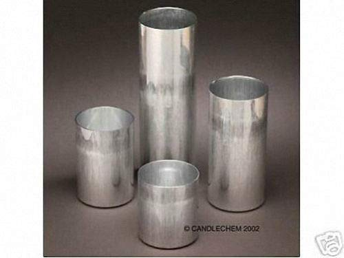 (OutletBestSelling Tin Coated Round Pillar Seamless Aluminum Candle Molds 3 x 9-1\2 inches)