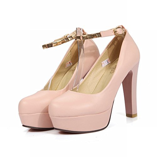 Mee Shoes Damen high heels Plateau Ankle strap Pumps Pink