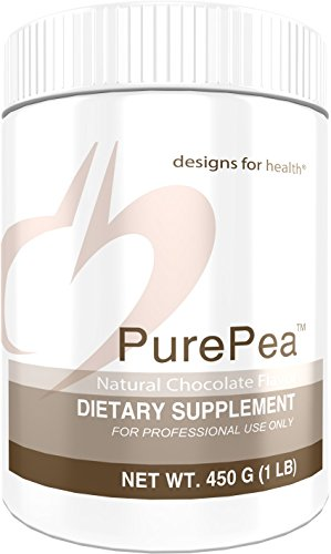 Designs For Health   Purepea Chocolate   Natural Pea Protein Isolate Powder  Vegan   Non Gmo Peas  1 Lb