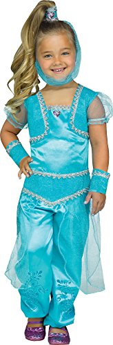 Fun World Toddler Girls' Aqua Glimmer Genie Costume, Multi, (Toddler Genie Costumes)