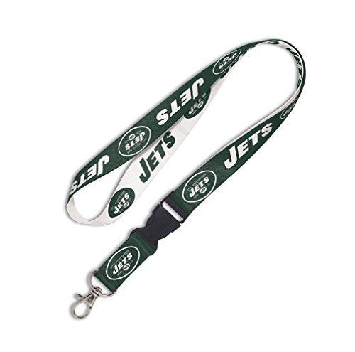 NFL New York Jets Lanyard with Detachable Buckle, 3/4