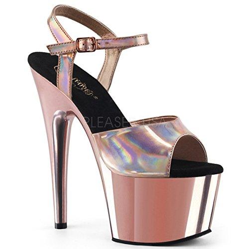Pleaser Women's Adore-709HGCH Ankle-Strap Sandal ()