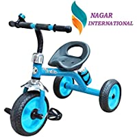 Nagar International Baby Tricycle Discover R-10-Tricyle with Heavy Duty Metal Body Multi Colour Baby Trikes/Baby Bike/Baby Ride on Wheels (Blue J-6)