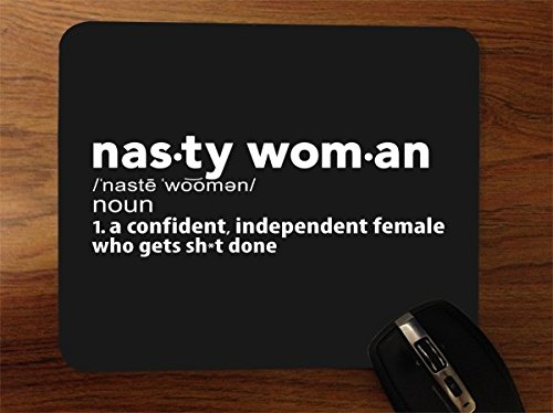 Price comparison product image Nasty Woman Get Shit Done Desktop Office Silicone Mouse Pad by Debbie's Designs