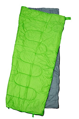 REVALCAMP Lightweight Green Sleeping Bag Indoor & Outdoor use. Great for Kids, Teens & Adults. Ultra Light and Compact Bags are Perfect for Hiking, Backpacking, Camping & Travel.