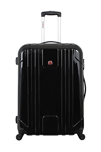SwissGear Wiese 28 Inch Hardside Spinner Suitcase, Black by Swiss Gear