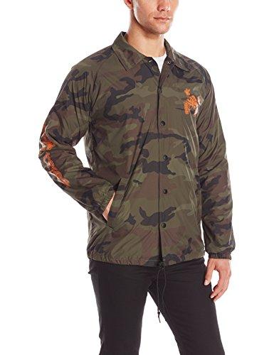 Hustle Trees Men's Coaches Jacket, Camouflage, (Lrg Windbreaker)