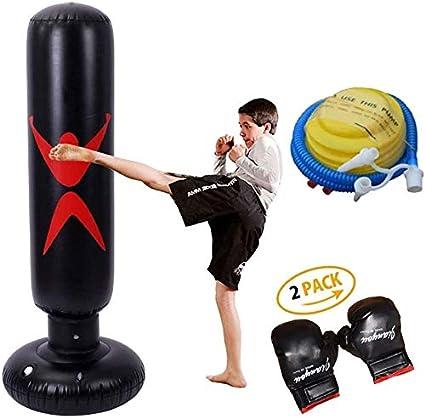 ZZX Saco De Boxeo De Pie Libre Saco De Boxeo De Pie Libre - Bolsas De Saco Target Stand Saco De Arena De Columna De Vaso De Pie con Una Bomba De