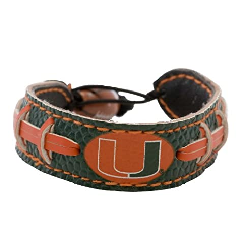 Gamewear 4421401209 Miami Hurricanes Team Color Football Bracelet - Gamewear Sports Bracelet