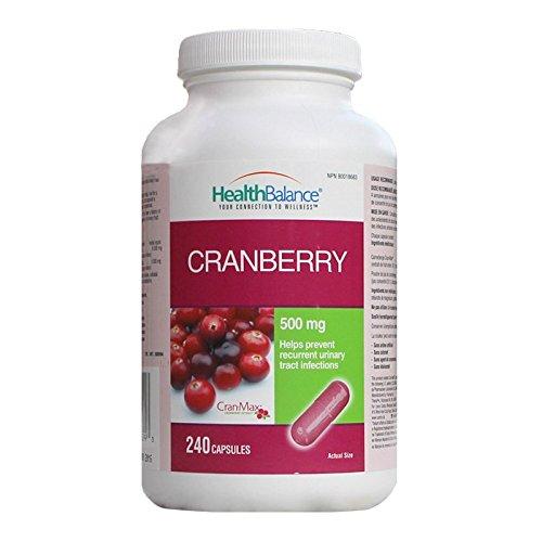 HealthBalance Cranberry 500mg 240 capsules