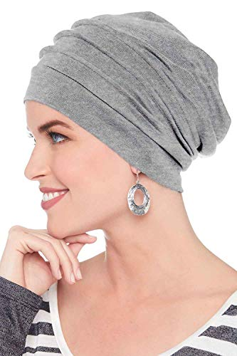 Headcovers Unlimited Slouchy Snood-Caps for Women with Chemo Cancer Hair Loss Grey Heather