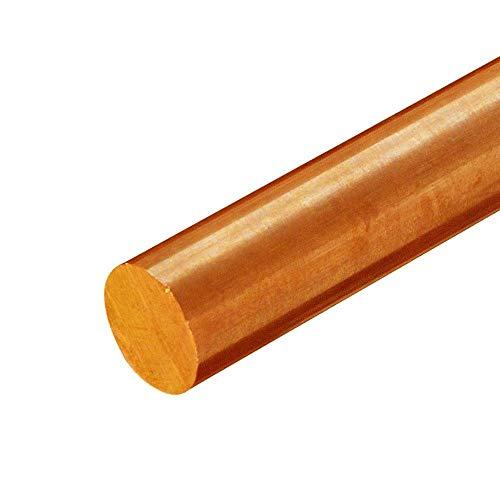 Online Metal Supply C510 Phosphor Bronze Round Rod, 0.437 (7/16 inch) x 12 inches