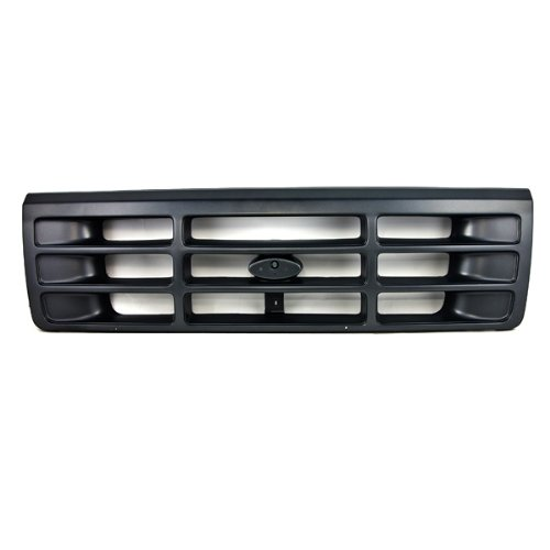 CarPartsDepot 400-18125, Grill Grille Dark Argent Gray Bar Plastic FO1200323 F6TZ8200AAA ()