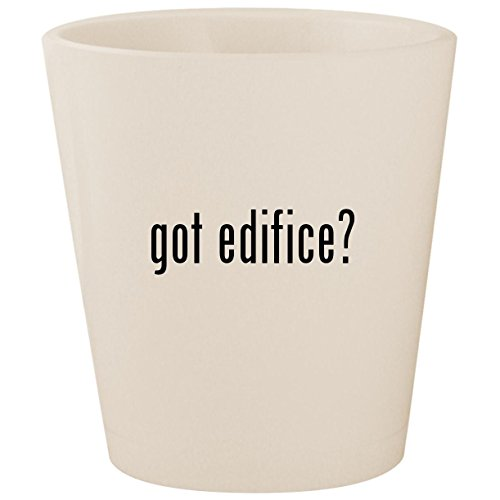 got edifice? - White Ceramic 1.5oz Shot Glass