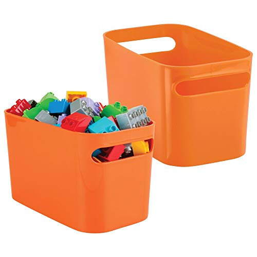 mDesign Plastic Toy Box Storage Organizer Tote Bin