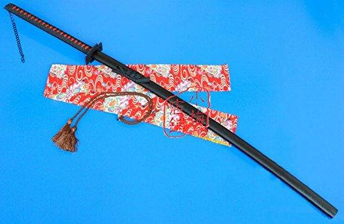 "S2608 ANIME BLEACH ICHIGO KUROSAKI TENSA ZANGETSU ZANPAKUTO SWORD CURVED BLACK 56.1"""