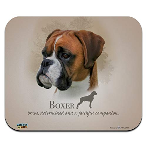 Boxer Dog Breed Low Profile Thin Mouse Pad Mousepad