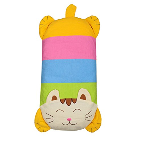Baby's Buckwheat Hull Pillow with Cotton Pillow (1-3years) (Cat, Yellow)