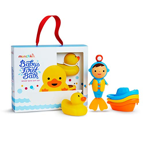 41a eYoXkDL - Munchkin Baby's First Bath, 3 Piece Bath Toy Gift Set, Bath Gift Set