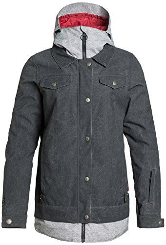 DC Womens Downtown Snow Jacket, Anthracite, Large