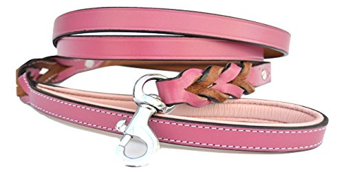 Raspberry Leather Soft Touch Collars