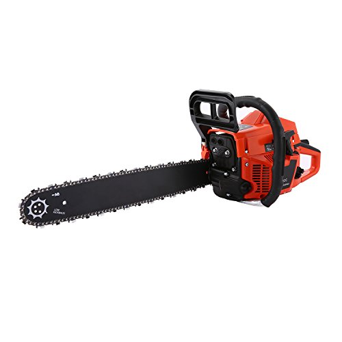 Meditool 62CC 20'' PETROL CHAINSAW + 2 x CHAINS - BAR COVER - TOOL KIT - ASSISTED START by Meditool