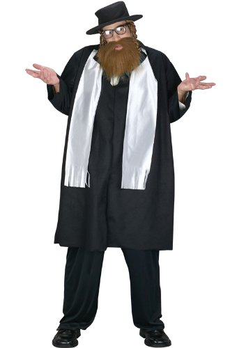 Fun World Men's Jewish Rabbi Plus Size Costume, Multi,]()