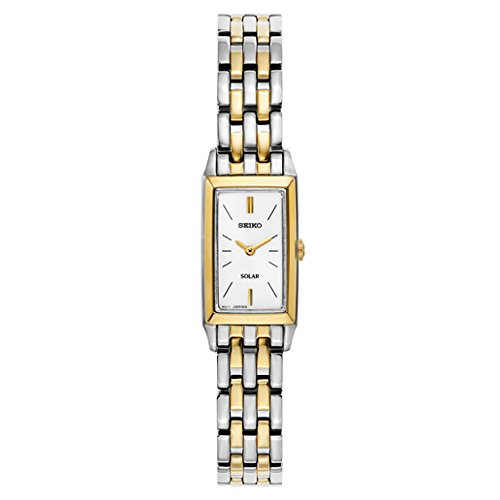 Gold Rectangular Wrist Watch - 2