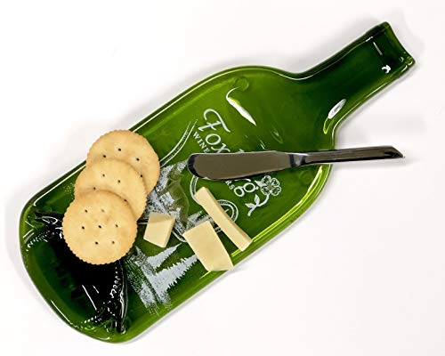 Foxburg Melted Wine Bottle Cheese Tray with Cheese ()