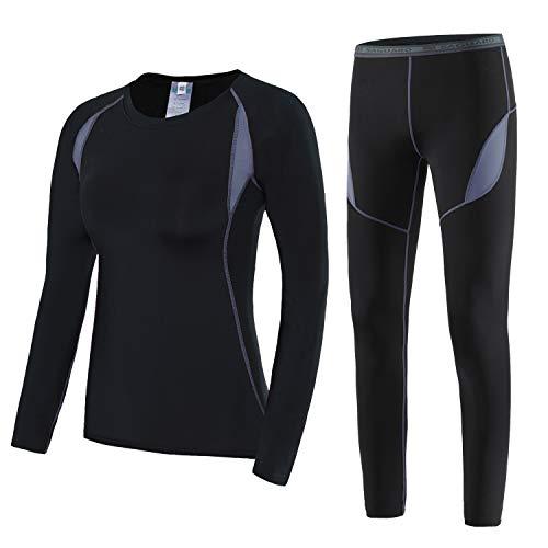 SAGUARO Thermounterwäsche Damen Skiunterwäsche Warm Funktionsunterwäsche Winter Atmungsaktiv Thermo Unterwäsche