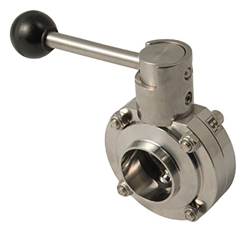 Dixon Sanitary B5101 Butterfly Valve 4 Weld Ends w//EPDM Seat /& Pull Handle