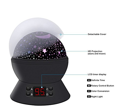 Star Sky Night Lamp Anteqi Baby Lights 360 Degree Romantic