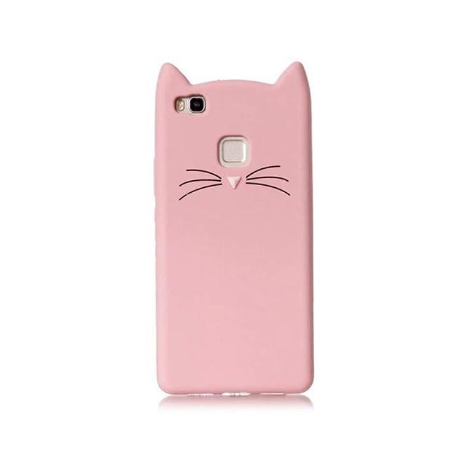 Amazon.com: KCHHA Phone case 3D Mustache Cat Phone Case for ...