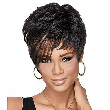 OOFAY JF® pelo corto Pelucas mujeres blancas negras sintéticos europeos pelucas pelucas cortas , natural
