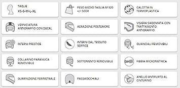 SANTA MONICA 109V-FSA-01 NEGRO GOMA CASCO JET PANTALLA AVIADOR XS