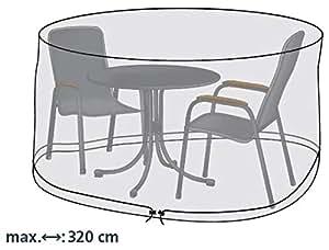 Gartenstuhl kissen funda protectora para mesa redonda y sillas de jard n 320 cm - Amazon mesas de jardin ...
